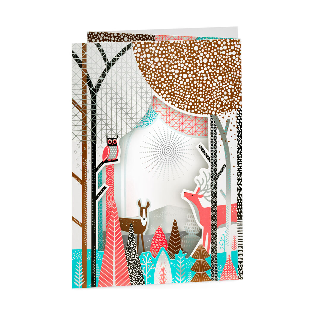 Winter Woodland Holiday Cards in color