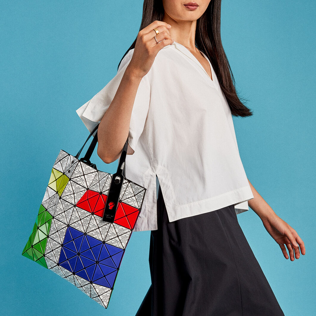 BAO BAO ISSEY MIYAKE Lucent for MoMA Tote Bag in color Multi