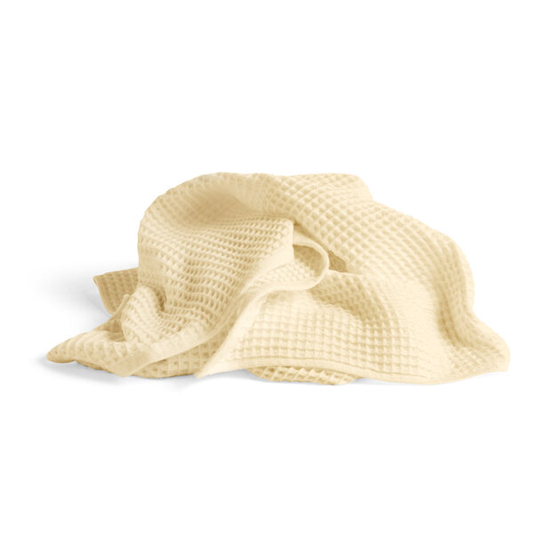 HAY Giant Waffle Bath Towel in color Light Yellow