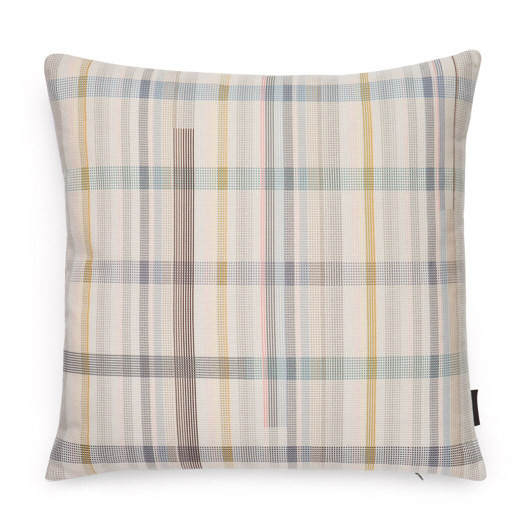 Maharam Darning Sampler Plaid Pillow by Scholten & Baijings in color