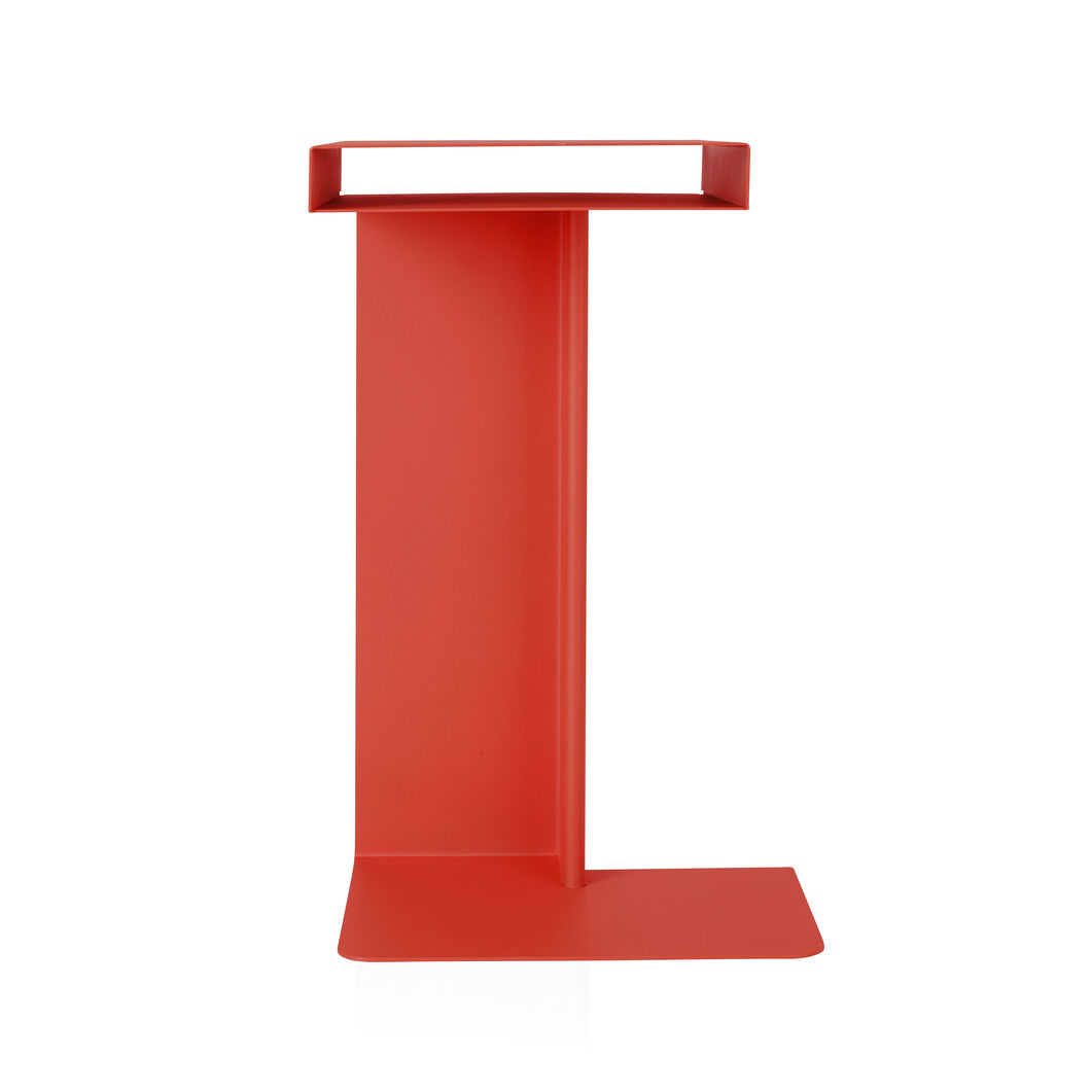 Radar Side Table in color Red