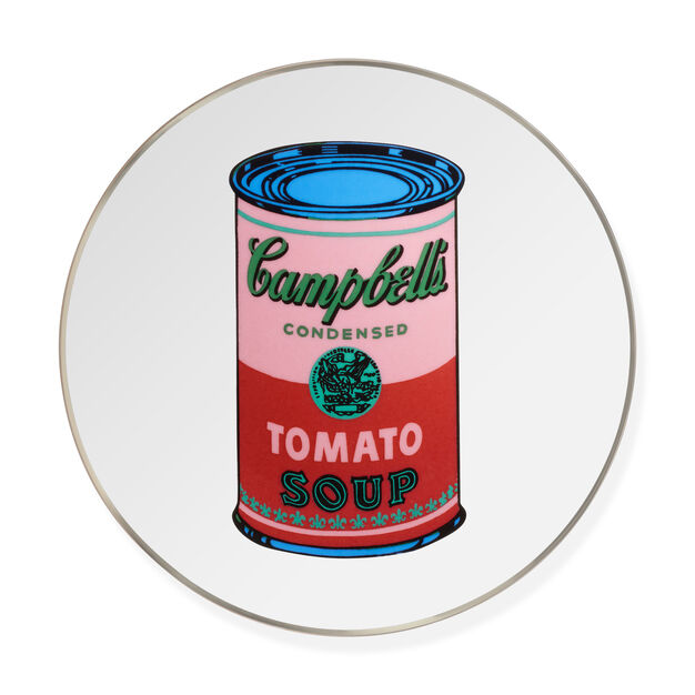 Andy Warhol Soup Can Plate- Red in color Red
