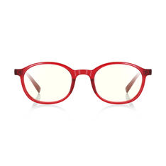 JINS Kids Boston Screen Glasses by Jasper Morrison in color Red
