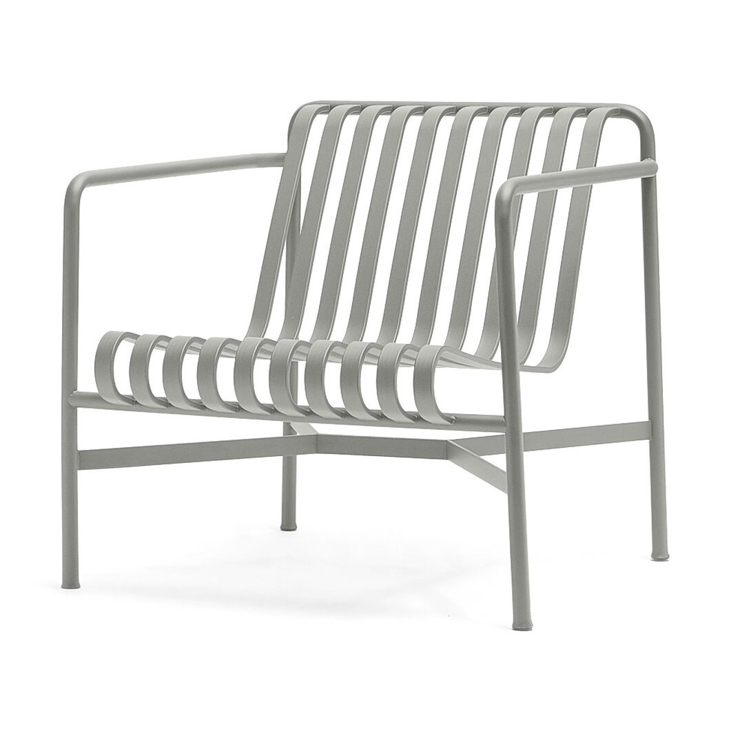 HAY Palissade Outdoor Low Lounge Chair in color Sky Grey