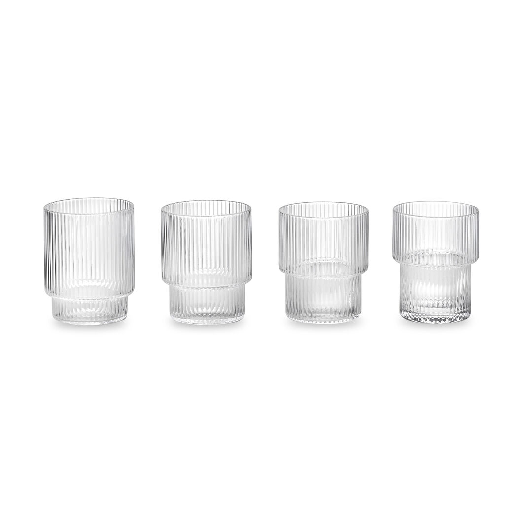 Ripple Stacking Glasses - Set of 4 in color