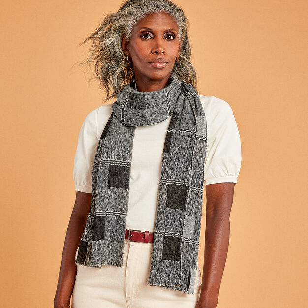 Wool Frames Scarf in color