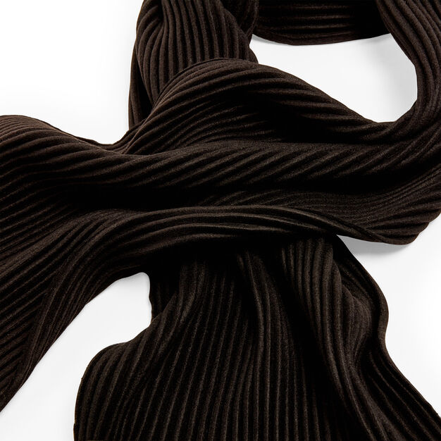 Fleece Scarf in color Black
