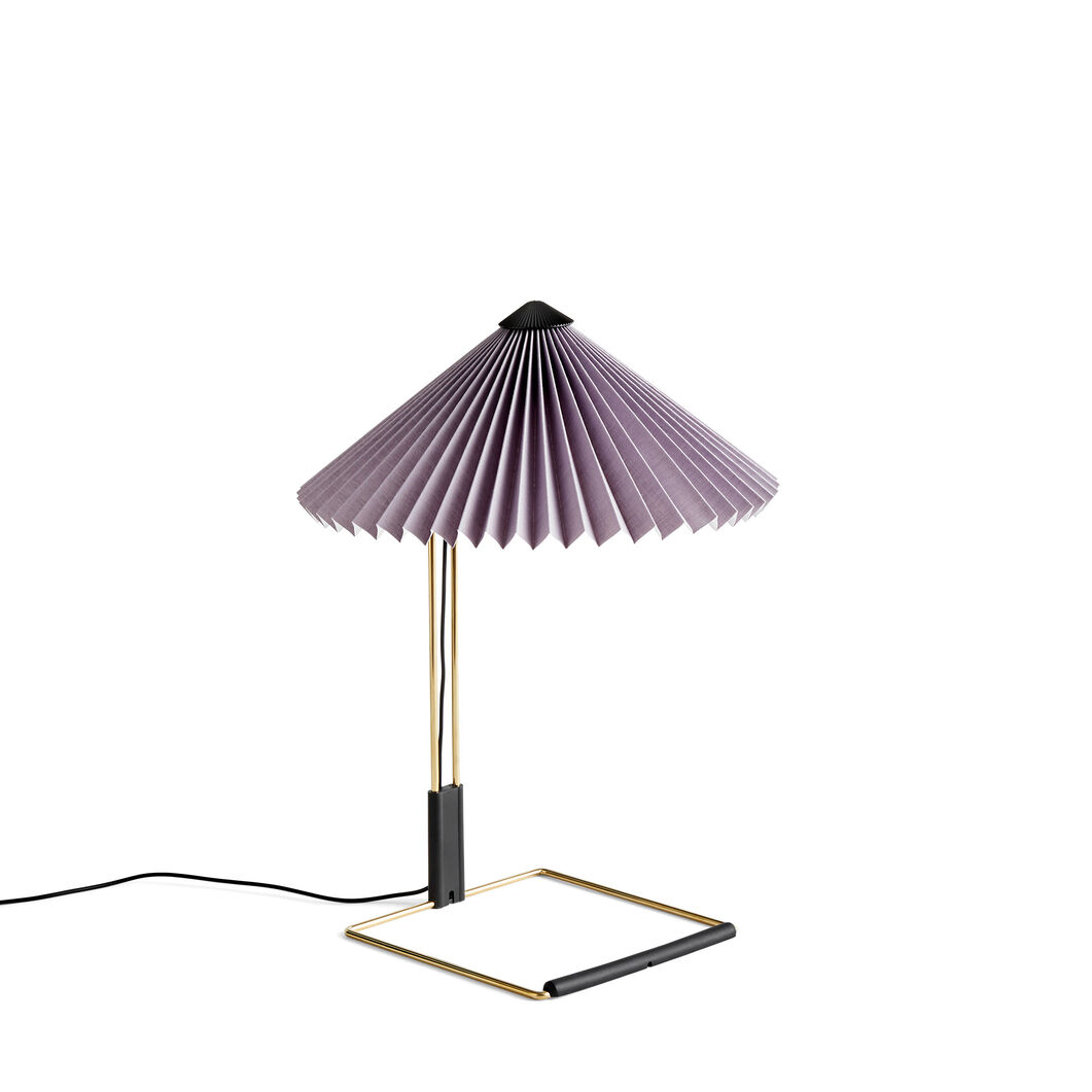HAY Matin Table Lamps in color Purple
