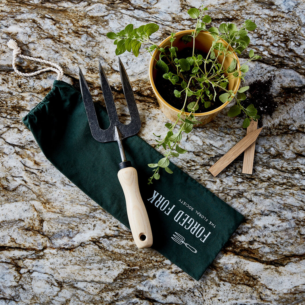 Floral Society Forged Garden Tools in color Black