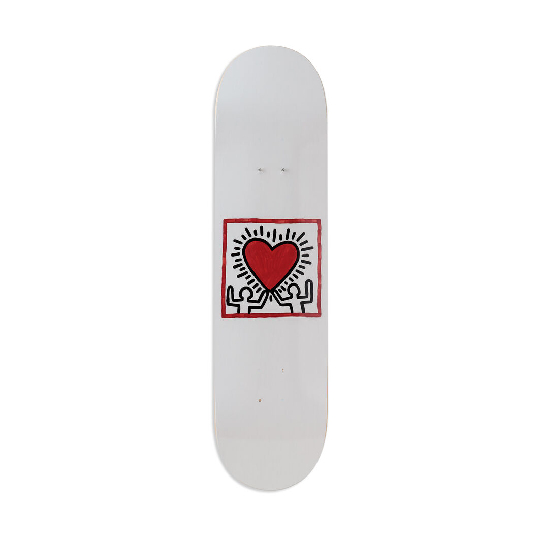 Keith Haring Untitled Skateboard in color Red
