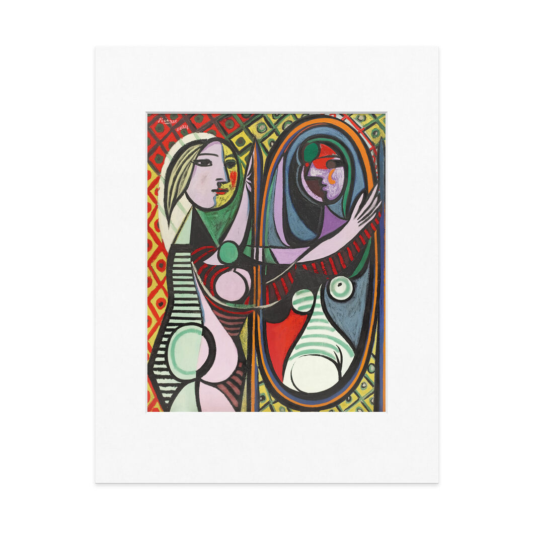 Picasso: Girl Before A Mirror Matted Print in color