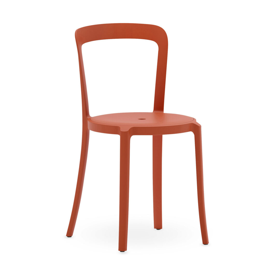 Emeco On & On Recycled Stackable Chair in color Coral Orange
