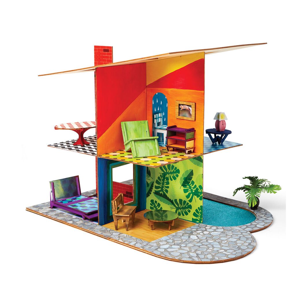Kid Made Modern House Craft Kit in color