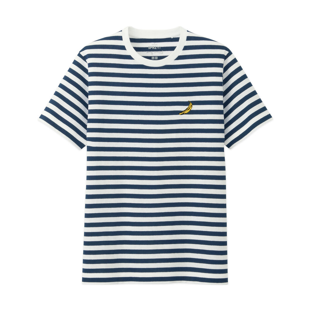 UNIQLO Andy Warhol Blue-and-White Striped T-Shirt in color