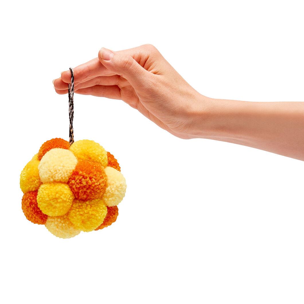 Pompom Holiday Ornaments in color Yellow
