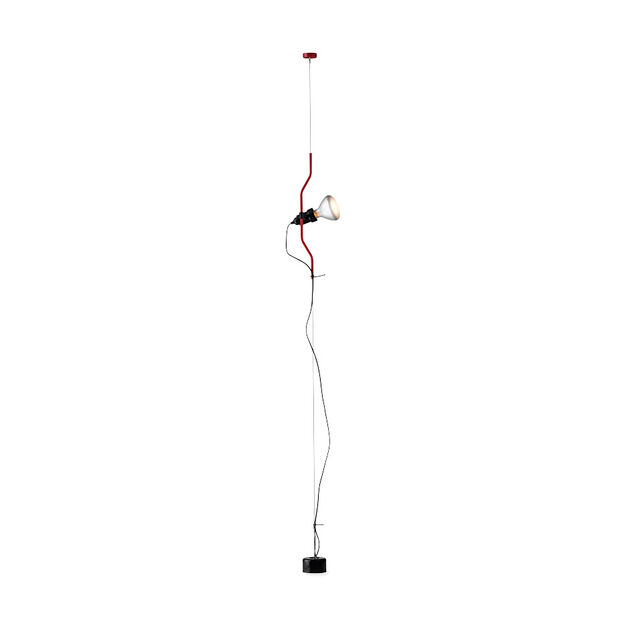 Flos Parentesi Cable Floor Light in color Red