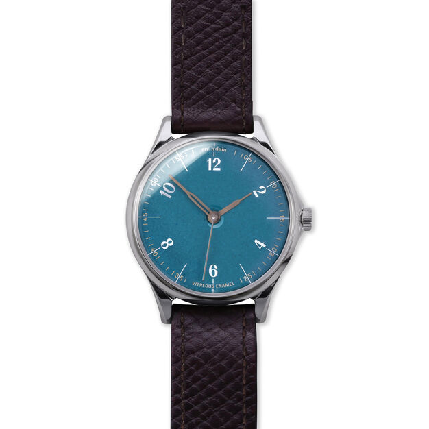 anOrdain Model 1 Watch - Teal Dial in color Russian Hatch