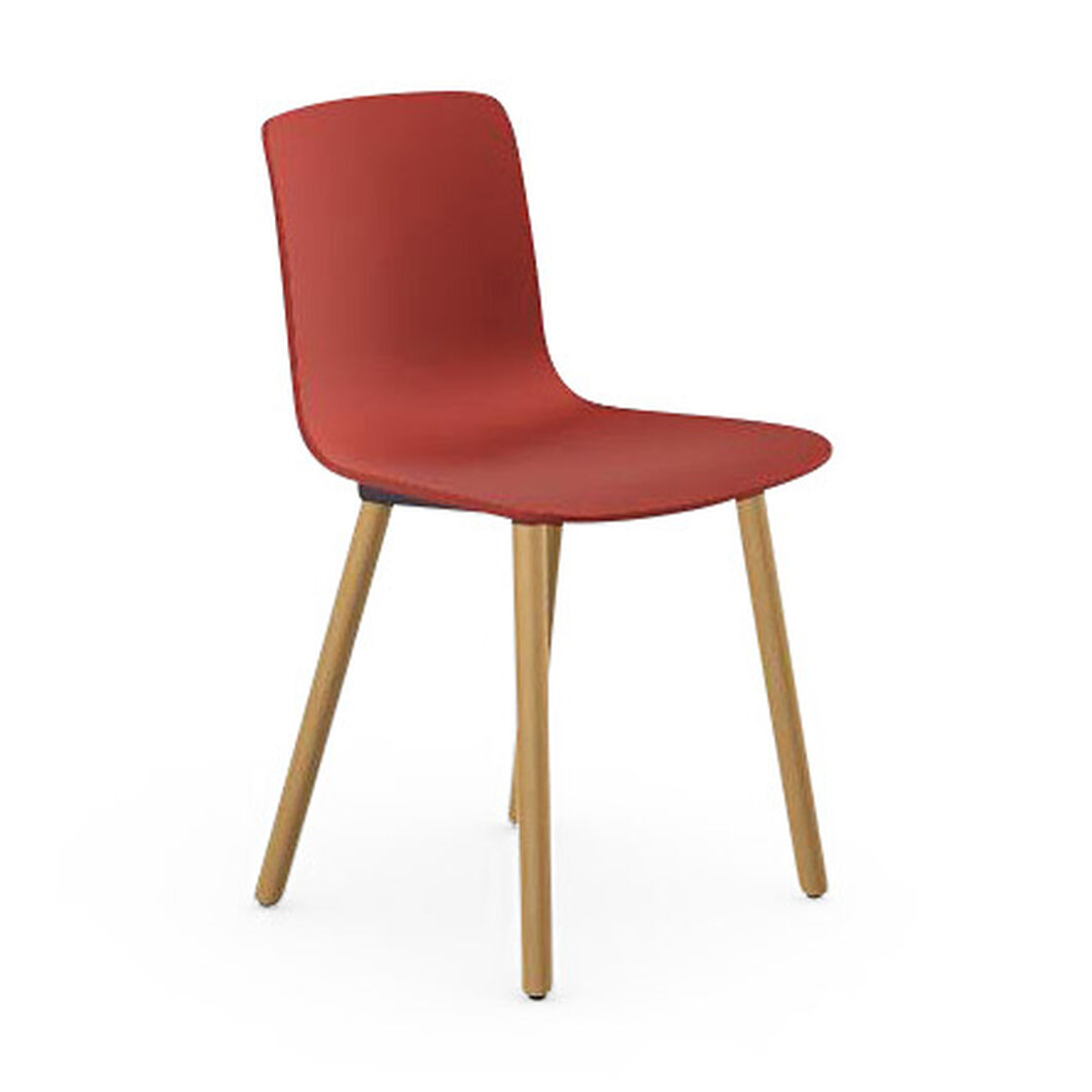 HAL Wood Chair in color Brick