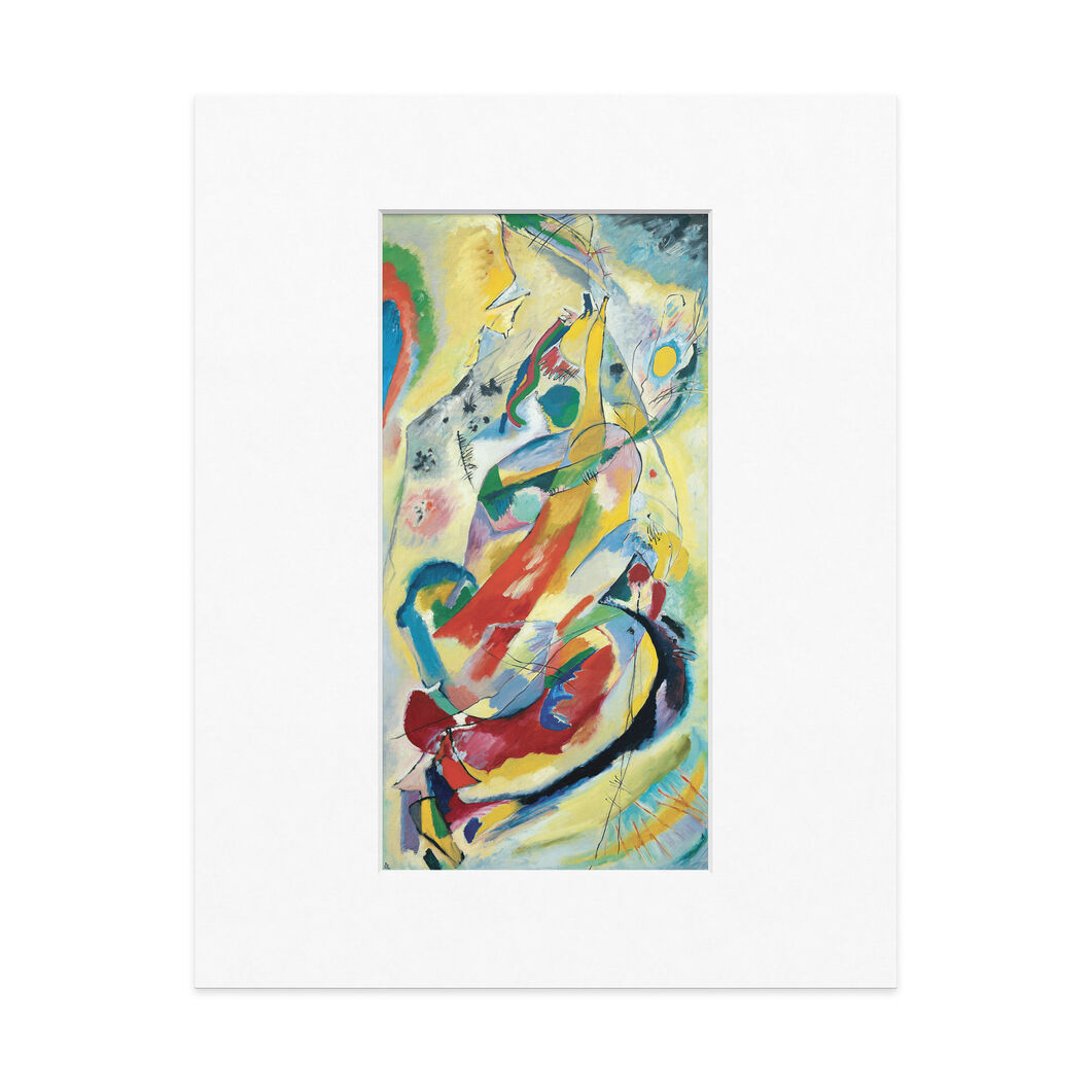 Kandinsky: Panel For Edwin R. Campbell No. 1 Matted Print in color
