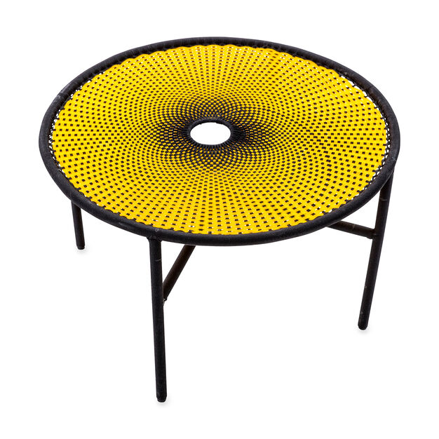 M'Afrique Banjooli Table in color Yellow/ Black