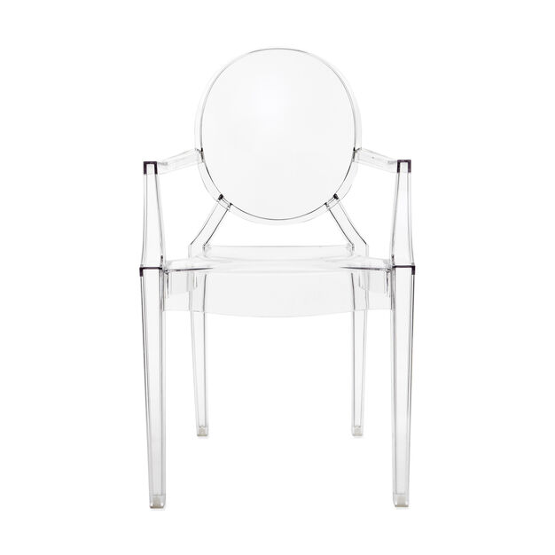 Louis Ghost Armchair in color Crystal