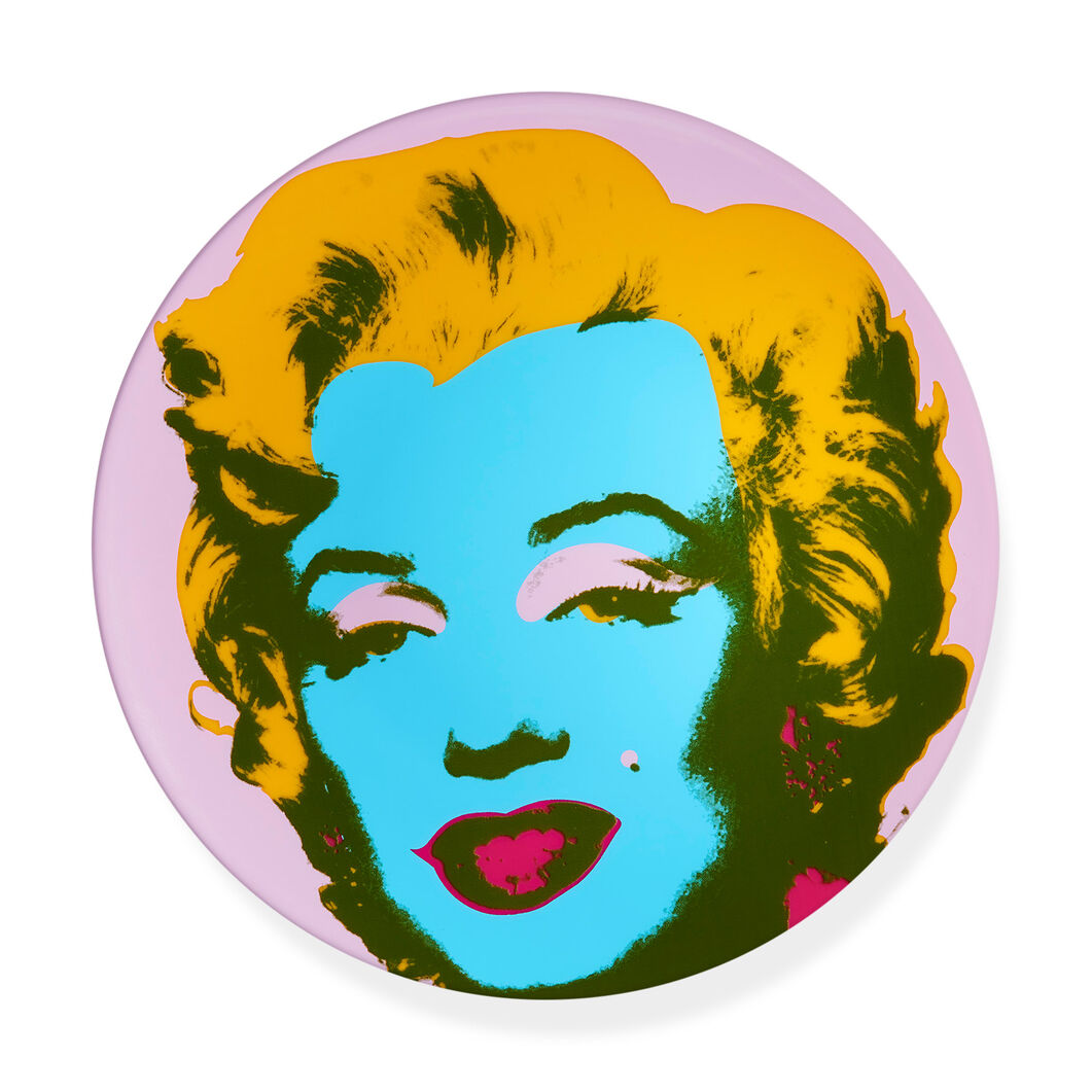 Andy Warhol: Marilyn Plate Purple in color