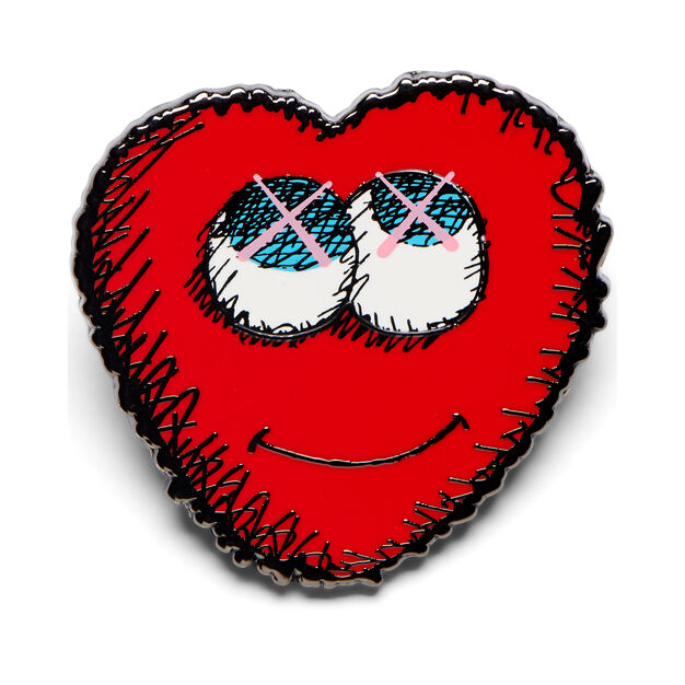 KAWS HEART Pin in color
