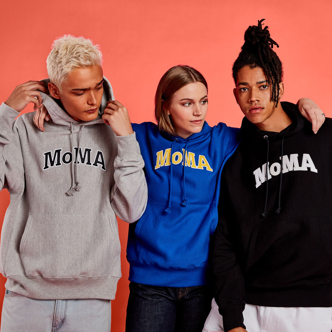 Champion Hoodie - MoMA Edition in color Navy