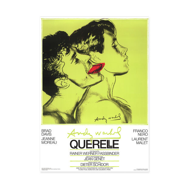 Andy Warhol: Querelle Green Poster in color