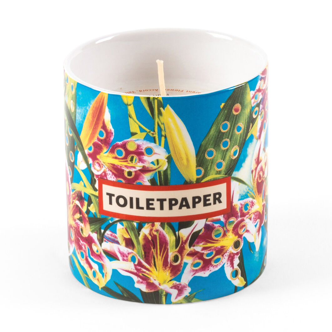 Seletti Wears Toiletpaper: Flowers Candle in color