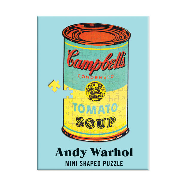 Andy Warhol Mini Shaped Jigsaw Puzzles - 100 Pieces in color Multi