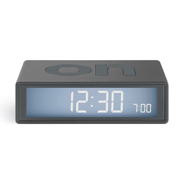 Lexon Flip+ Travel Alarm Clock in color Gunmetal