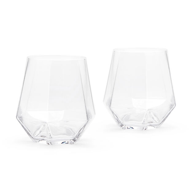 Radiant Faceted Crystal Glass Set in color