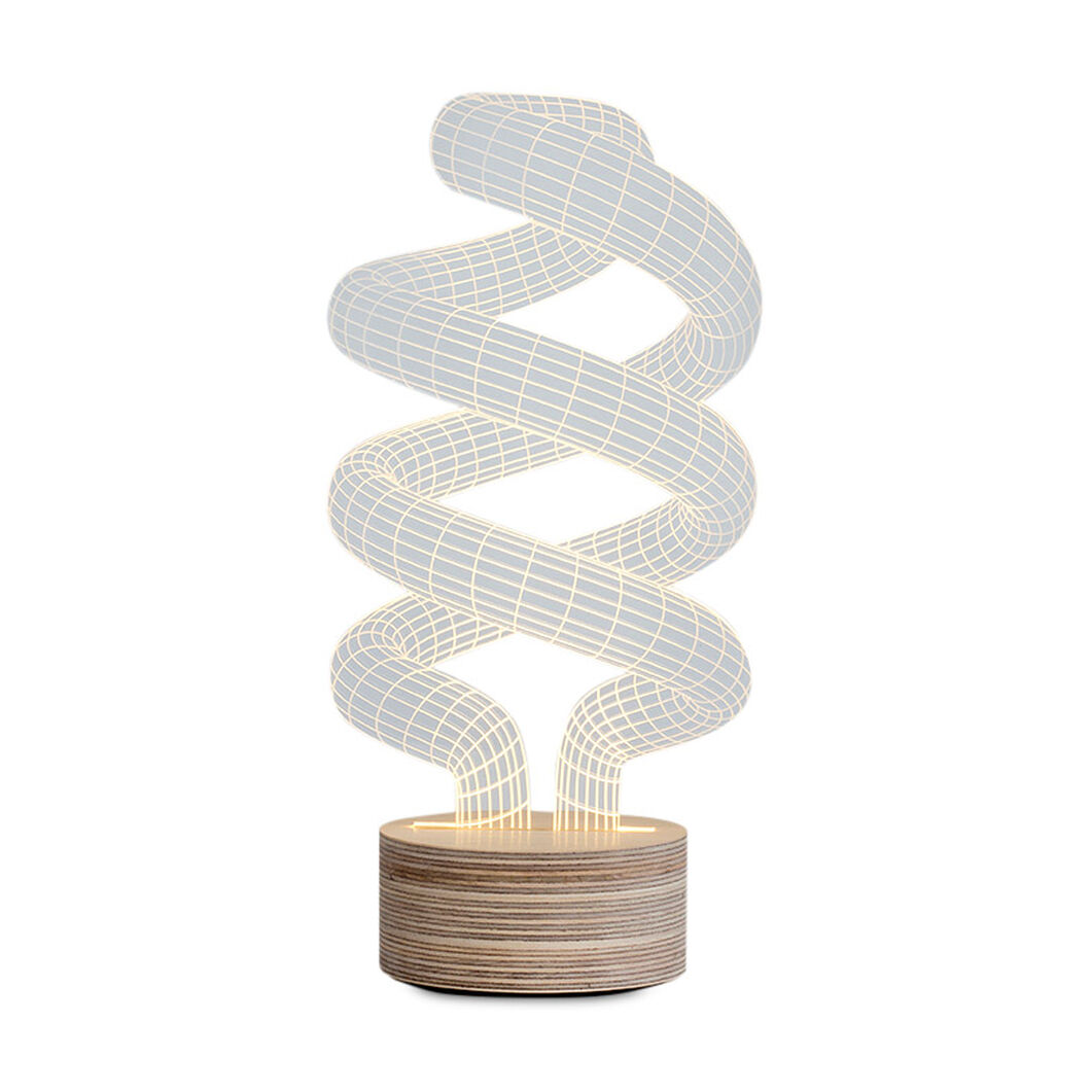 Spiraling Table Lamp in color