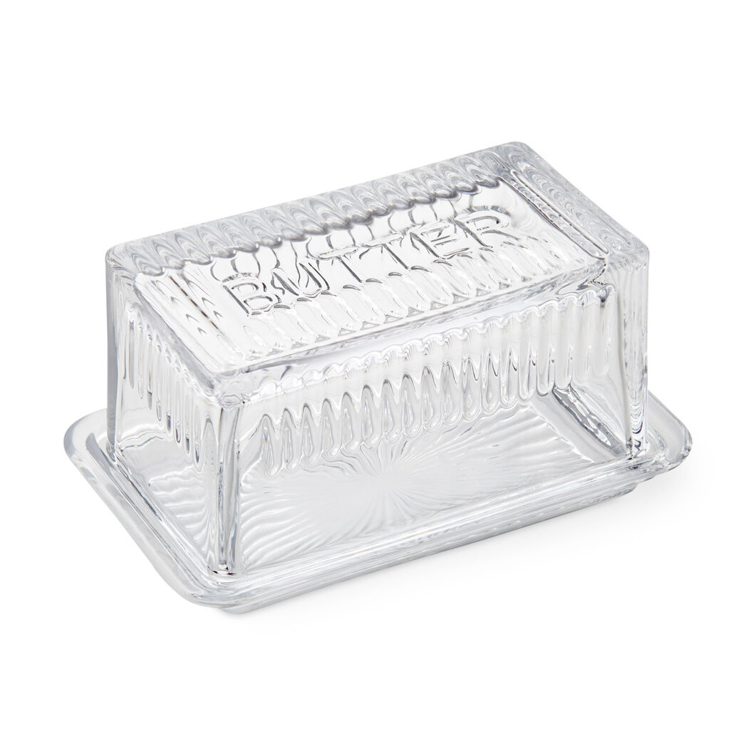 Glass Butter Dish in color