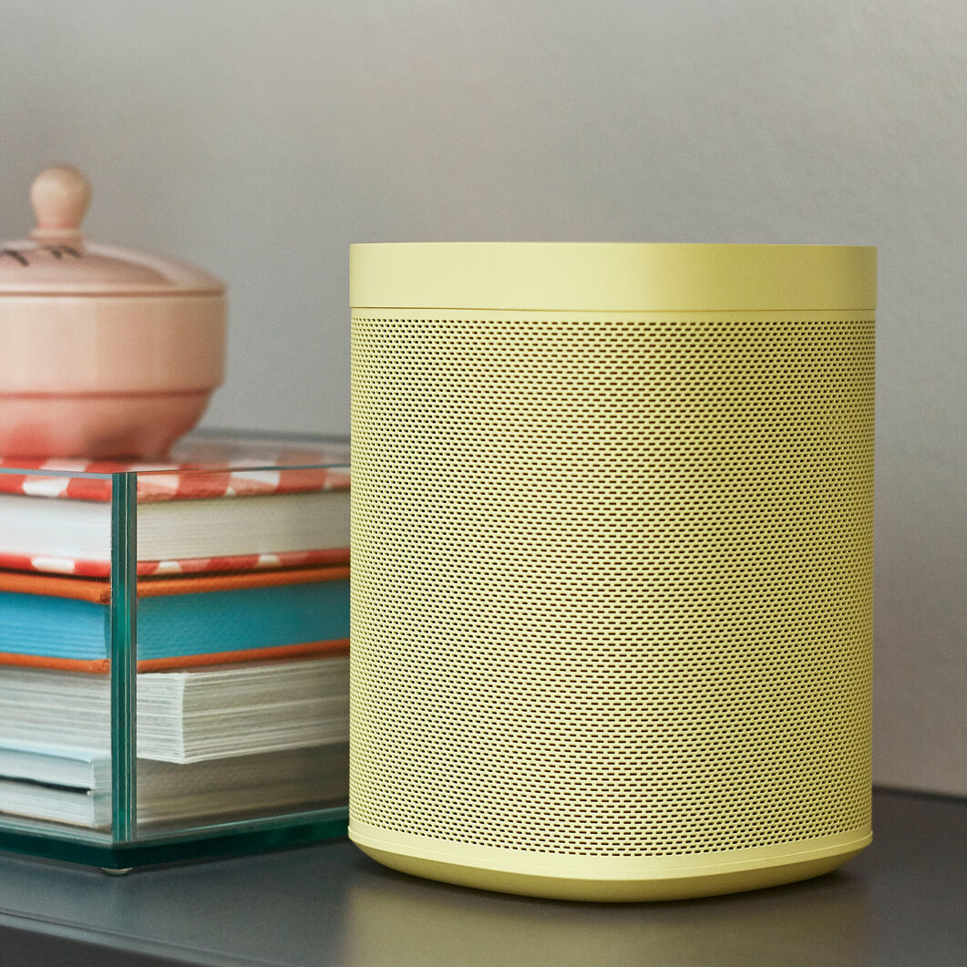 HAY Sonos One Limited Edition Speakers in color Yellow