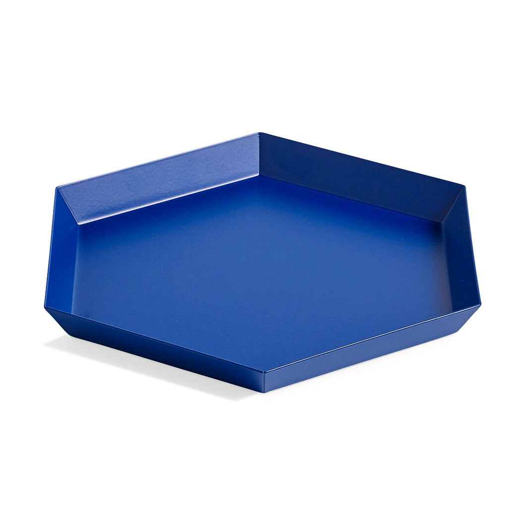 HAY Kaleido Tray Small in color Royal Blue