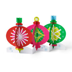 Tabletop Ornaments Holiday Cards - Set of 8 in color