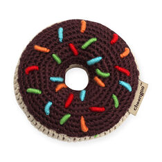 Crocheted Donut Rattle in color Brown