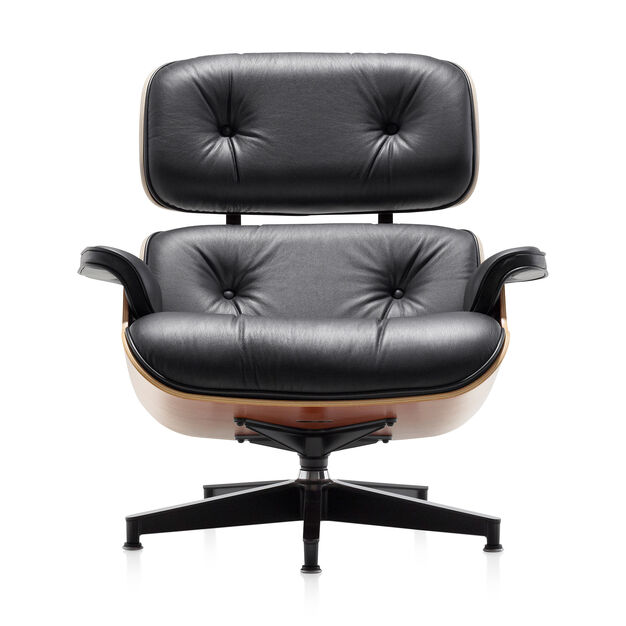 Eames® Lounge Chair and Ottoman in color Black/Cherry