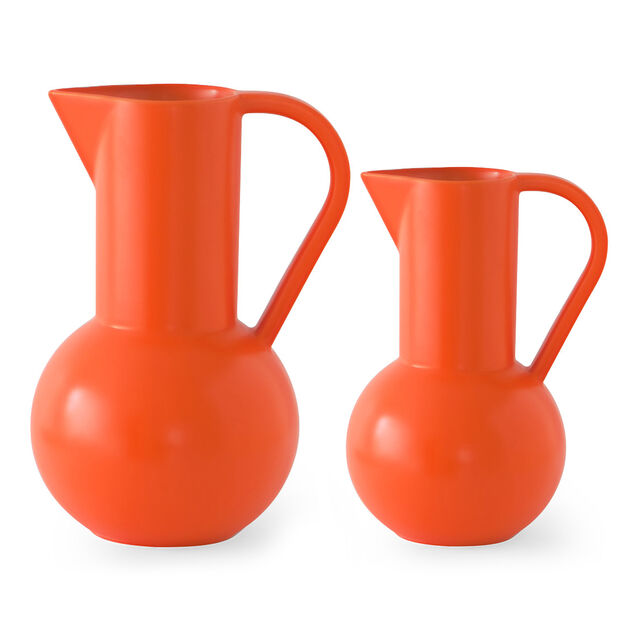 Raawii Strøm Jug in color Vibrant Orange