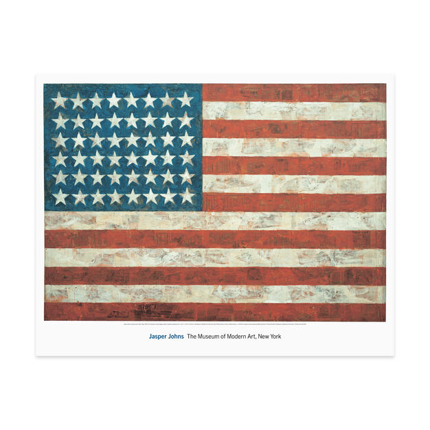 Poster  Johns: Flag in color