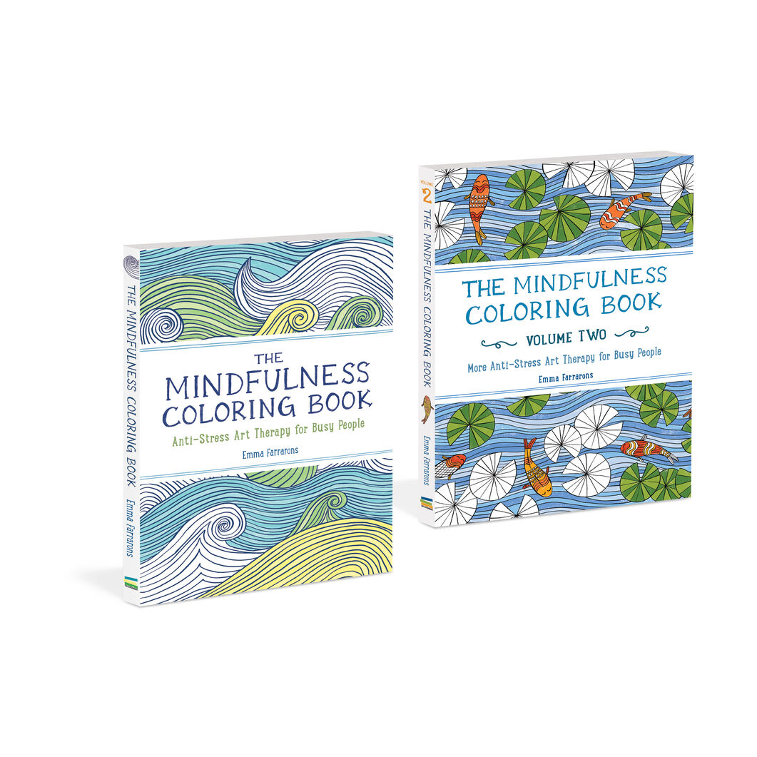 Mindfulness Coloring Books Set of Two in color