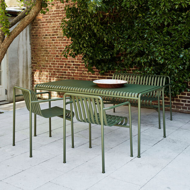 HAY Palissade Outdoor Table in color Olive
