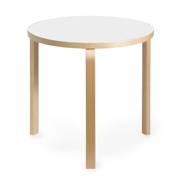 Artek Aalto Round Dining Table 90B in color White