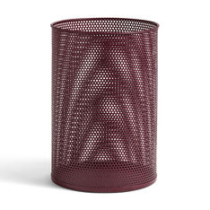 HAY Perforated Bin in color Burgundy