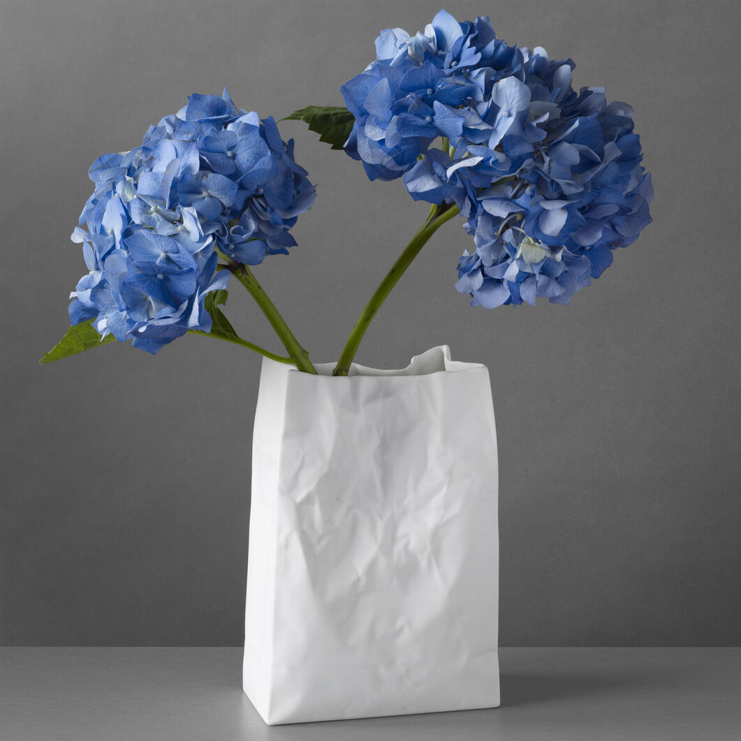 Crinkle Bag Vase in color