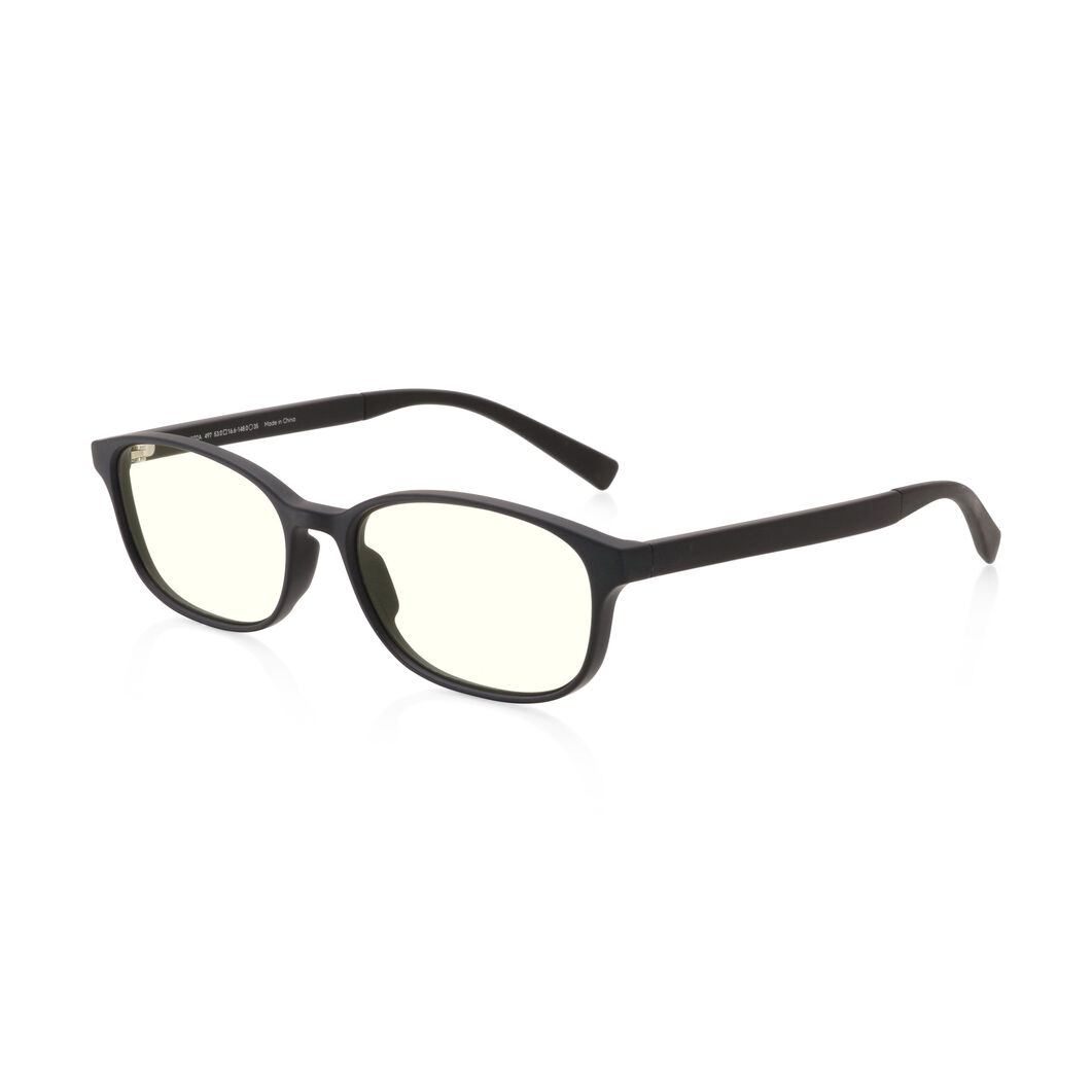 JINS Wellington Screen Glasses by Jasper Morrison in color Black