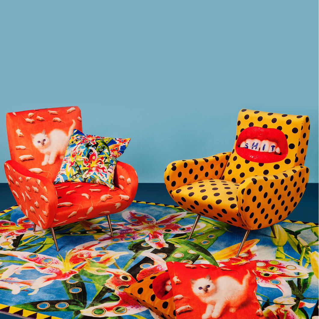 Seletti Wears Toiletpaper: Teeth Armchair in color