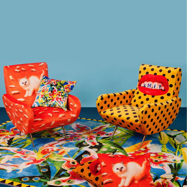 Seletti Wears Toiletpaper Kitten Armchair in color